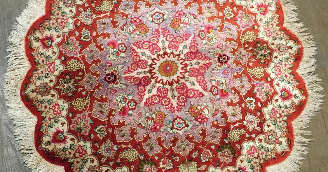 Persian Silk Carpet 5152