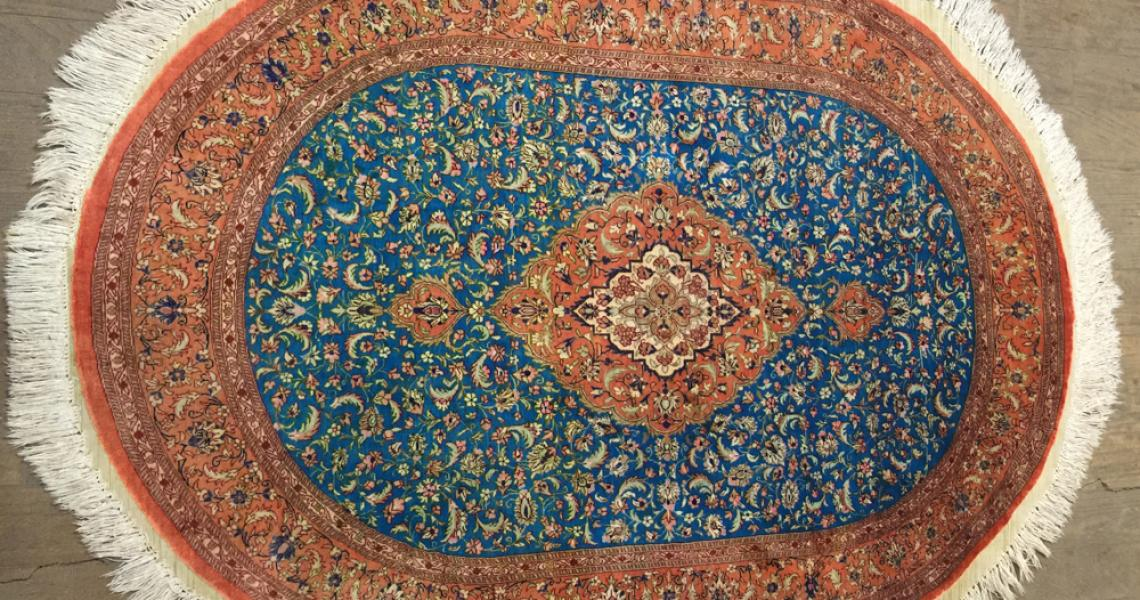 Persian Silk Carpet 5156