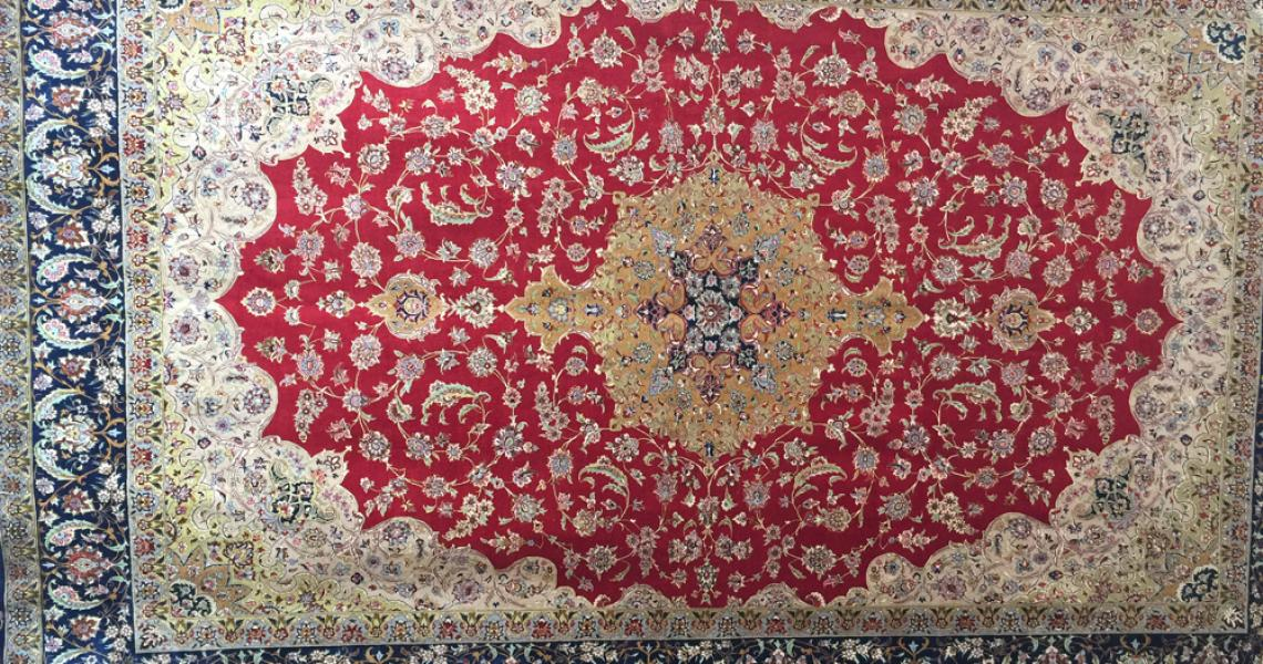 Persian Silk Carpet 5173
