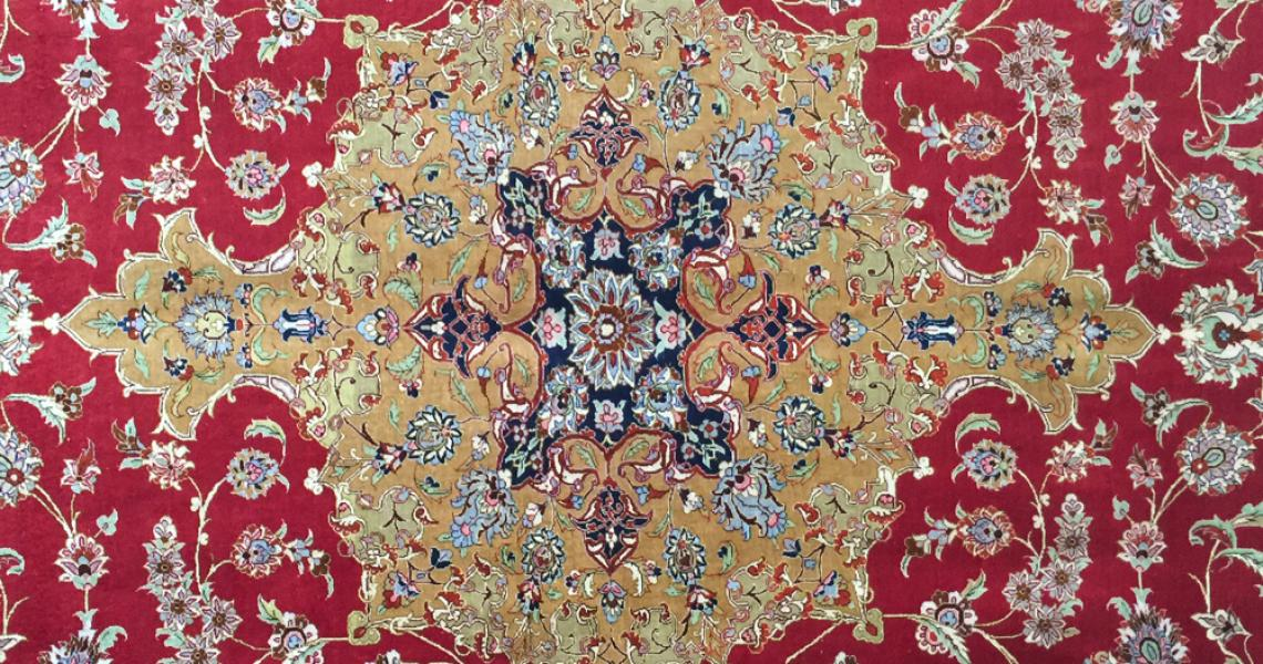 Persian Silk Carpet 5175